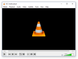 Screenshot of VLC not playing MP4 file