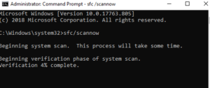 run SFC to claer error 87 parameter is incorrect