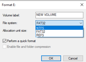 change the file system to the fix SSD error