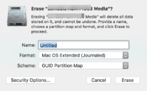 reformatting to show up external hard drive on Mac
