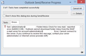 Fix IMAP error 0x800ccc0e