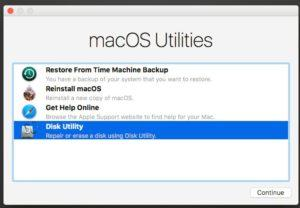 External hard drive showing up in Disk utility