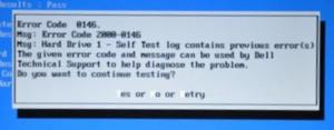 Dell error code 0146