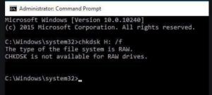 RAW partition error