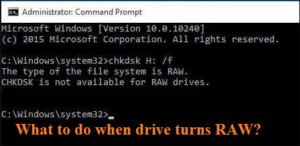 Fix the error when drive turns RAW