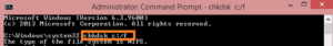 CHKDSK to fix Drive is not accessible