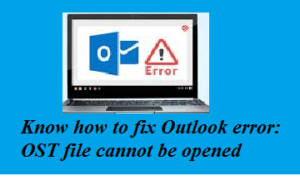 Fix OST file cannot be opened error