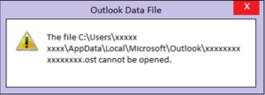 Outlook OST file cannot be opened