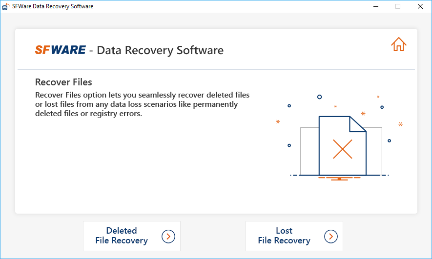 First Screen to Perform Deleted File Recovery