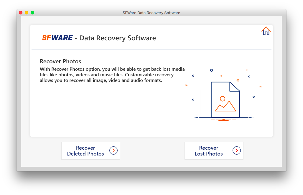 Advanced digital media recovery tool for Mac