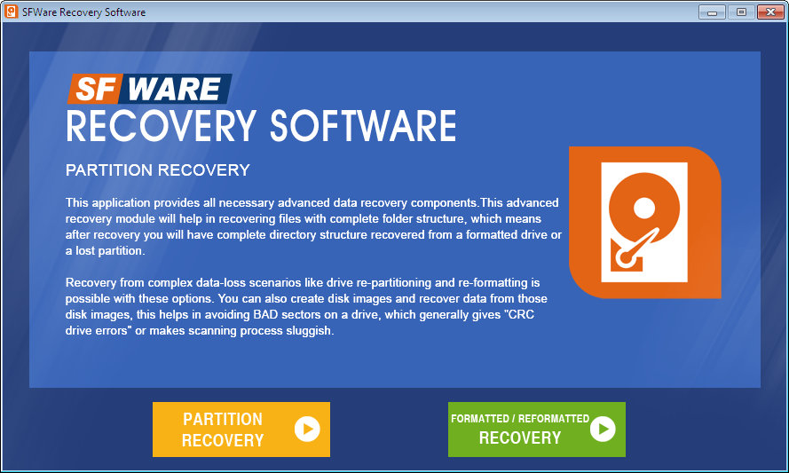 Great product to recover Windows Partitions
