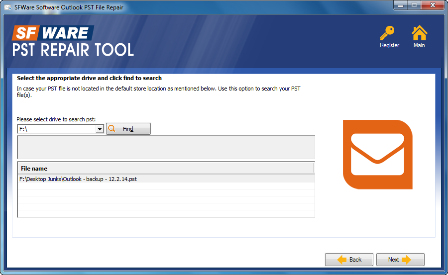 SFWare PST Repair Tool – Fix Corrupt or Damaged MS-Outlook Data Files