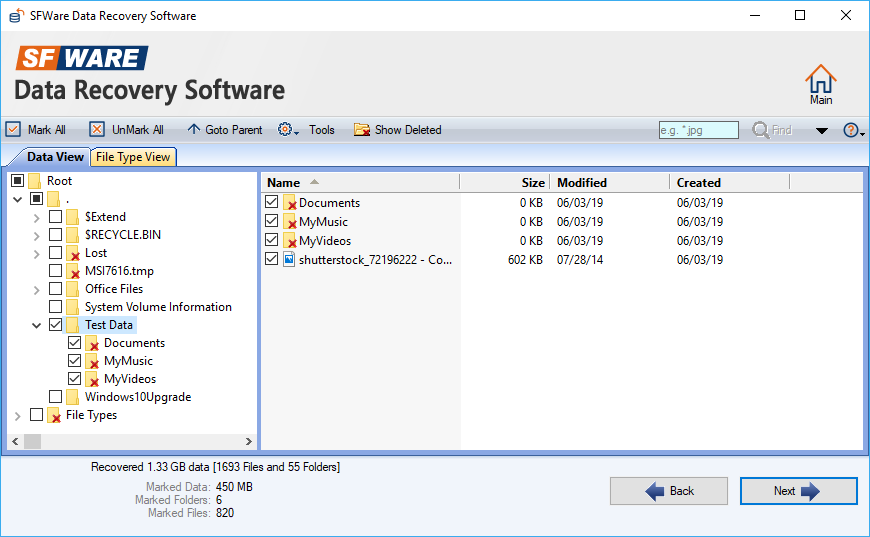 SFWare Recoverable Files