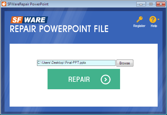 Choose PowerPoint File to Repair