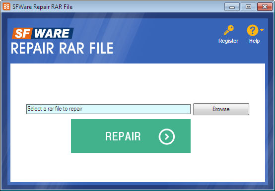 Incredible repairing tool for RAR file