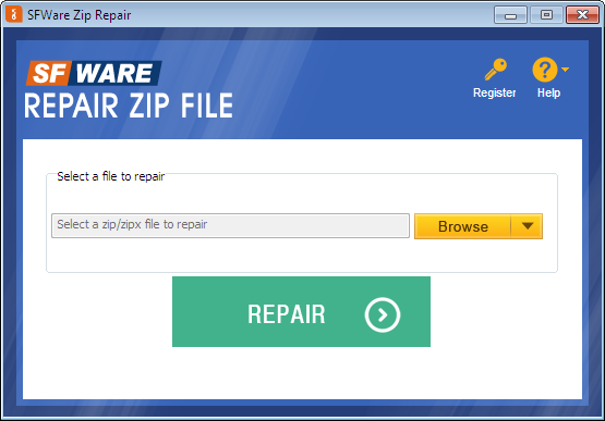 Fast and easy way of repairing ZIP file